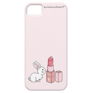 Bunny with pink lipstick iPhone SE/5/5s case