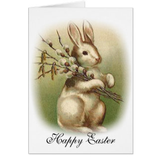 Bunny with Pussy Willow Card
