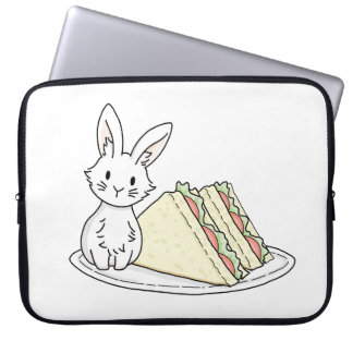 Bunny with Sandwiches Computer Sleeve