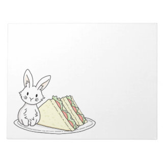 Bunny with Sandwiches Notepad
