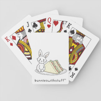 Bunny with Sandwiches Playing Cards