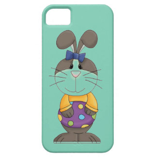Bunny with Yellow Shirt and Blue Bow iPhone SE/5/5s Case