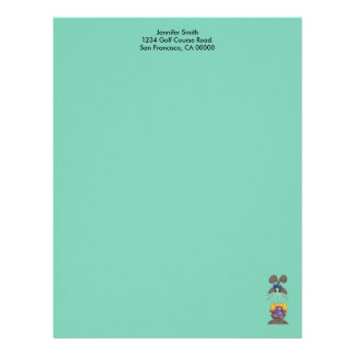 Bunny with Yellow Shirt and Blue Bow Letterhead