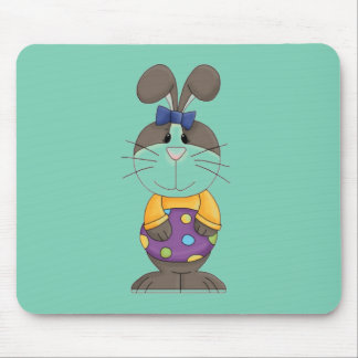 Bunny with Yellow Shirt and Blue Bow Mouse Pad
