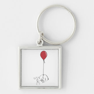 BUNNYFLY Silver-Colored SQUARE KEYCHAIN