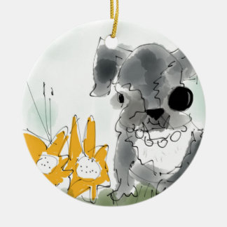 Bunnykins Double-Sided Ceramic Round Christmas Ornament