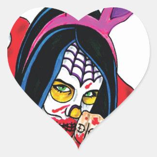 BUNNYLARGE.jpg Pegatina En Forma De Corazón