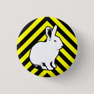 BunnyLuv Black, Yellow and Bunny Button