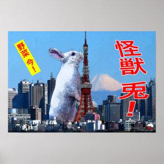 BunnyLuv Monster Rabbit! poster featuring Bianca