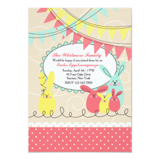 Bunny's Celebration Easter Invitation