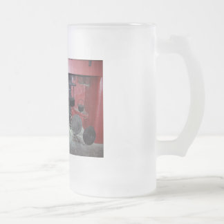 Bunratty fireplace 16 oz frosted glass beer mug
