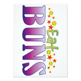 Buns Eat 5.5x7.5 Paper Invitation Card