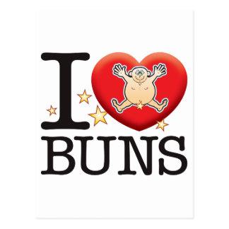 Buns Love Man Postcard
