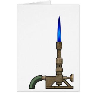 Bunsen Burner Greeting Card