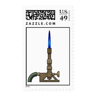 Bunsen Burner Postage Stamps