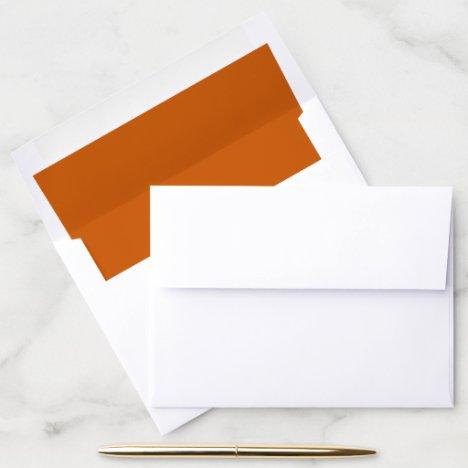 Bunt orange solid color simple wedding  envelope liner
