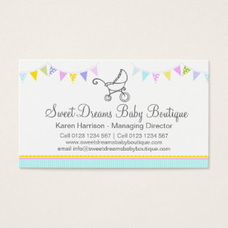 Bunting baby boutique business cards