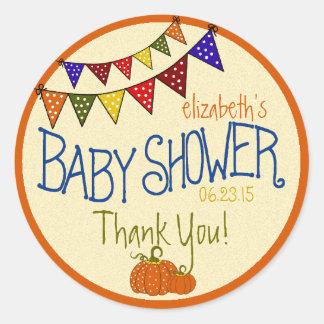 Bunting-Baby Shower Round Sticker