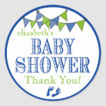 Bunting-Baby Shower Thank You Stickers