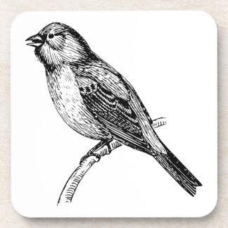 Bunting Bird Art Coaster