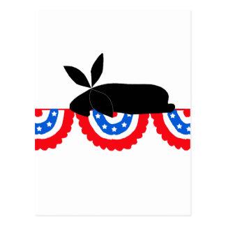 Bunting Bunny Postcard