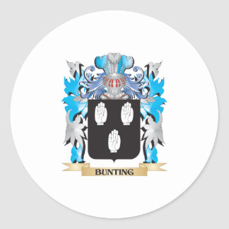 Bunting Coat of Arms Classic Round Sticker