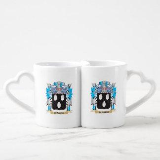 Bunting Coat of Arms Couples' Coffee Mug Set