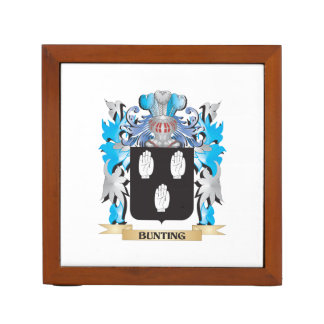 Bunting Coat of Arms Desk Organizers