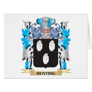Bunting Coat of Arms Large Greeting Card