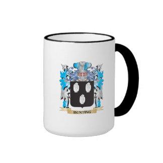 Bunting Coat of Arms Ringer Coffee Mug