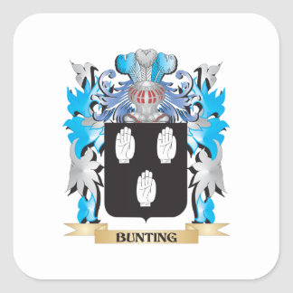 Bunting Coat of Arms Square Sticker