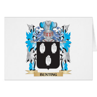 Bunting Coat of Arms Stationery Note Card