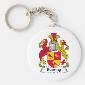 Bunting Family Crest Basic Round Button Keychain