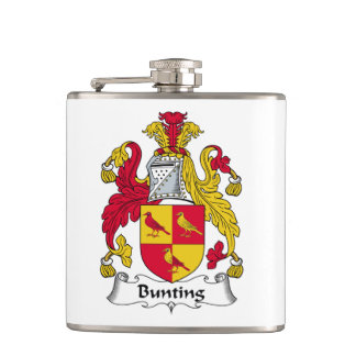 Bunting Family Crest Flask