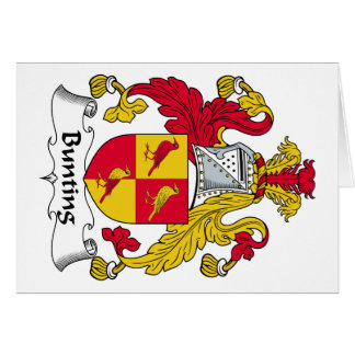 Bunting Family Crest Greeting Card