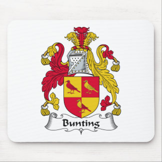 Bunting Family Crest Mouse Pad