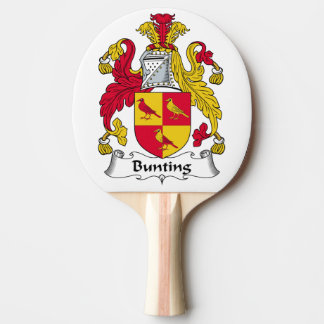 Bunting Family Crest Ping-Pong Paddle