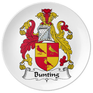 Bunting Family Crest Porcelain Plate