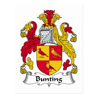 Bunting Family Crest Postcard