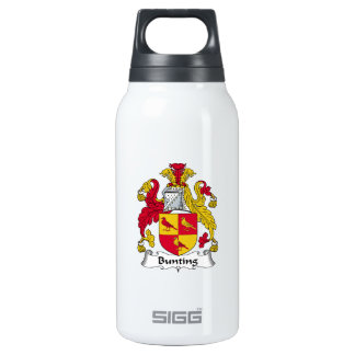 Bunting Family Crest 10 Oz Insulated SIGG Thermos Water Bottle