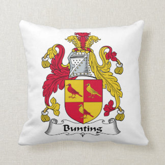 Bunting Family Crest Throw Pillow