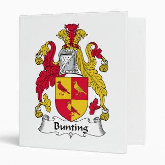 Bunting Family Crest Vinyl Binders