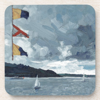 Bunting on the Bay Beverage Coaster
