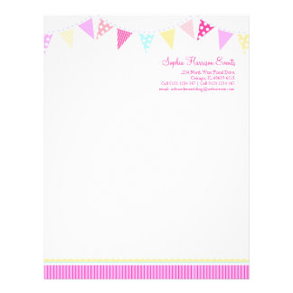 Bunting party events letterhead