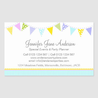 Bunting party events planning business label