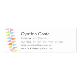 Bunting party events planning slim business cards