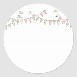 Bunting - Pink & Green Stickers
