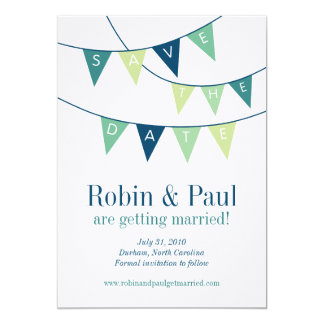 Bunting Save the Date Card