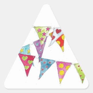 Bunting Triangle Sticker