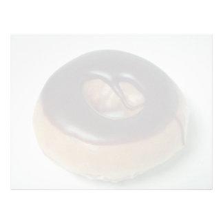 Buñuelo Chocolate-cubierto delicioso Plantilla De Membrete